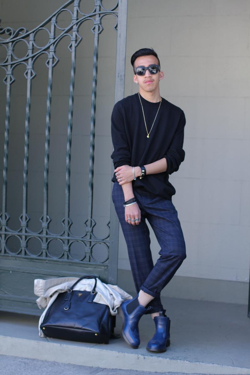 plaid&black