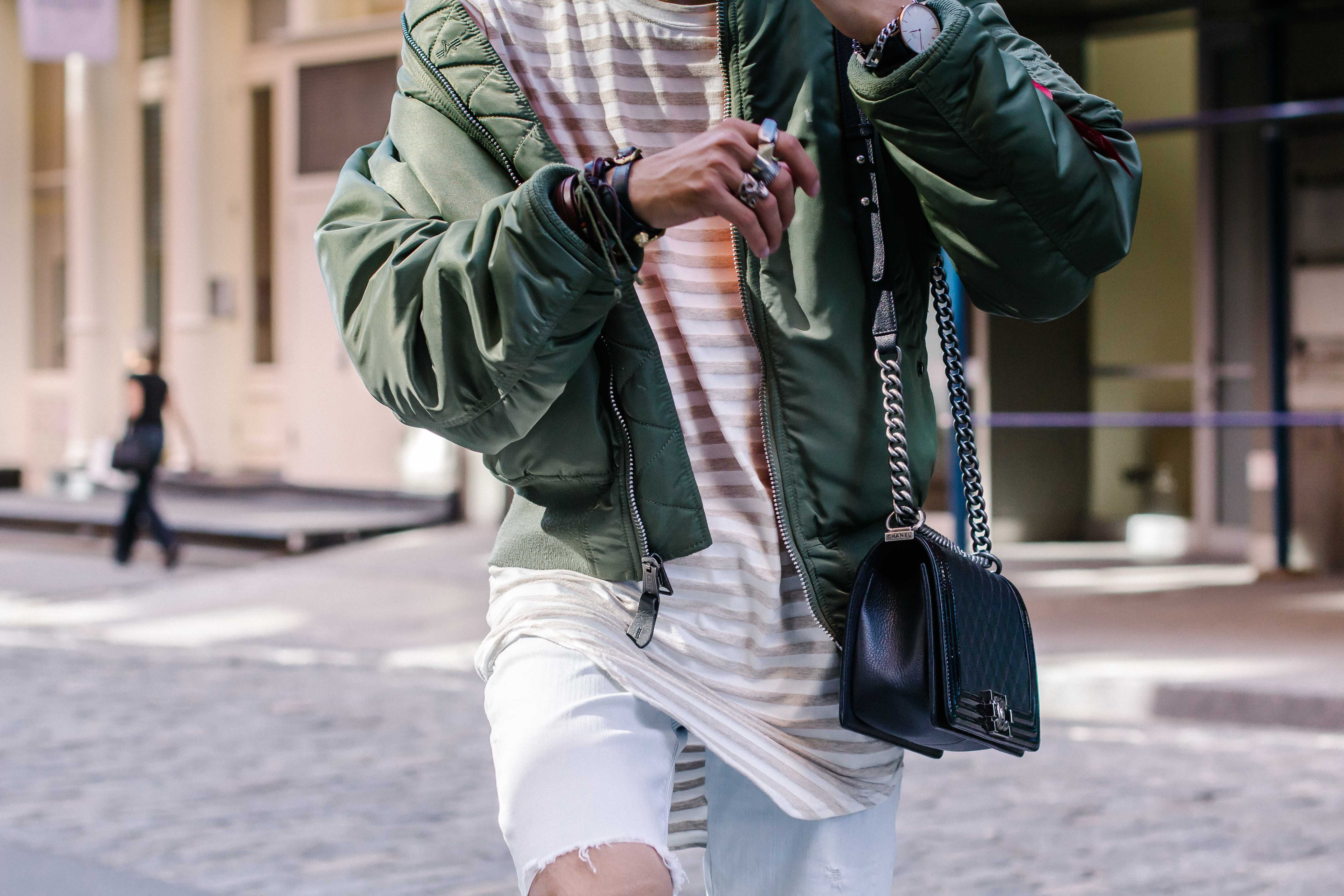 Different ways to wear bomber jacket