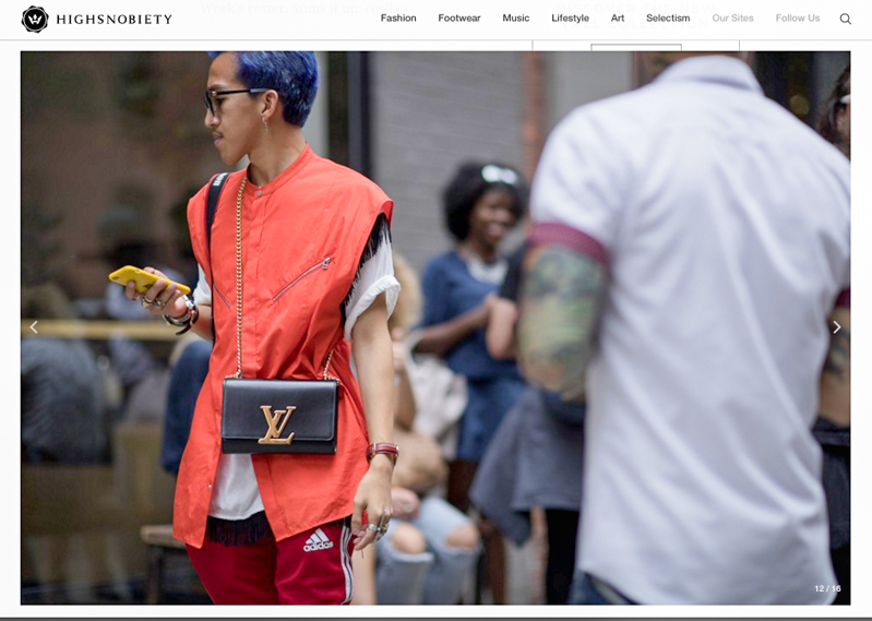Streetstyle snap on Highsnobiety